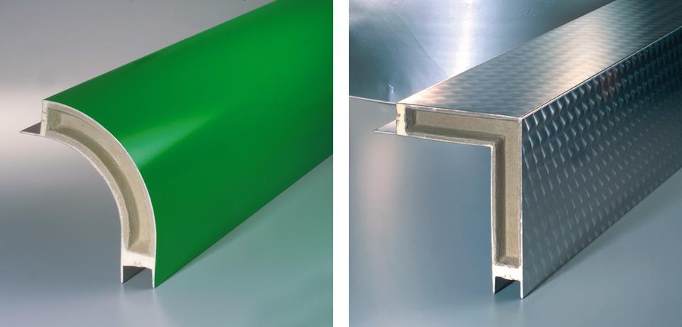 Raccordo orizzontale schiumato (curvo e retto) | Horizontal siding foam (curved and straight) - © Copyright Elcom System Spa - Tutti di diritti riservati / All rights reserved